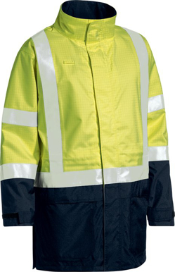 Picture of Bisley Workwear-BJ6963T-3M Taped Hi Vis Wet Weather Anti Static Jacket