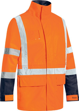 Picture of Bisley Workwear-BJ6377HT-Taped Ttmc-W 5 In 1 Rain Jacket  (Waterproof)