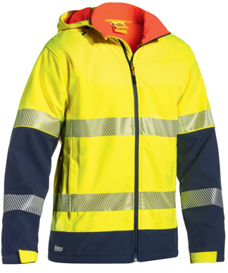 Picture of Bisley Workwear-BJ6934T-3M Taped Hi Vis Ripstop Bonded Fleece Jacket (Shower Proof)