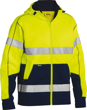 Picture of Bisley Workwear-BK6819T-Taped Hi Vis Fleece Hoodie
