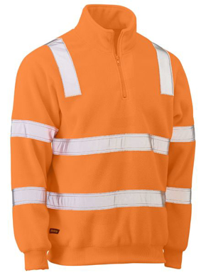 Picture of Bisley Workwear-BK6816T-Taped Hi Vis Rail Polar Fleece Jumper