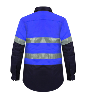 Picture of Ritemate Workwear-RM208V2R-Ladies Long Sleeve Vented Shirts with 3M 8910 Reflective Tape Shirts