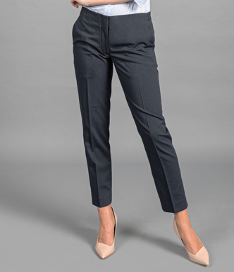Picture of Gloweave-1723WT-WOMEN'S CIGARETTE PANT - ELLIOT WASHABLE SUITING