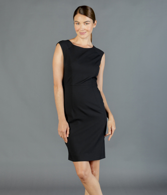 Picture of Gloweave-1767WD-WOMEN'S SLEEVELESS DRESS - ELLIOT WASHABLE SUITING