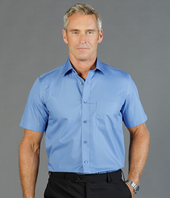 Picture of Gloweave-1272S-MEN'S PREMIUM POPLIN SHORT SLEEVE SHIRT-NICHOLSON