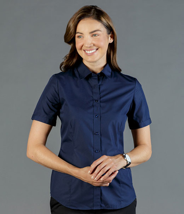 Picture of Gloweave-1520WS-WOMEN'S PREMIUM POPLIN SHORT SLEEVE SHIRT-NICHOLSON