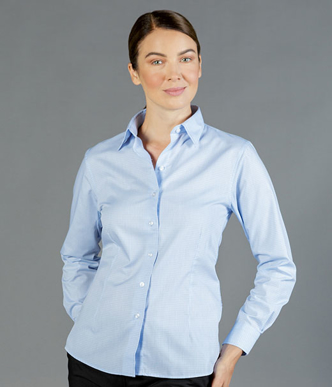 Picture of Gloweave-1295WL-WOMEN'S MINI CHECK LONG SLEEVE SHIRT - BELL