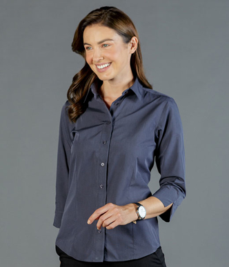 Picture of Gloweave-1253WL-WOMEN'S END ON END 3/4 SLEEVE SHIRT-SMITH