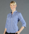 Picture of Gloweave-1710WL-WOMEN'S OXFORD CHECK 3/4 SLEEVE SHIRT - DEGREAVES