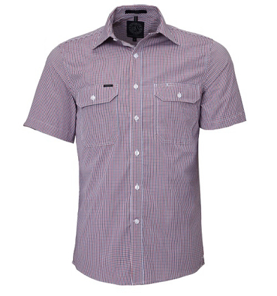 Picture of Ritemate Workwear-RMPC008S-Men's S/S Shirt, Double Pockets
