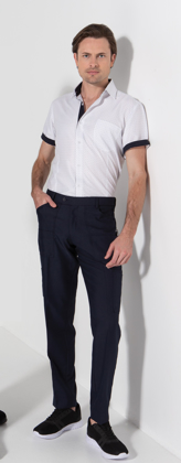 Picture of LSJ collection-1029K-MG-Mens Multi pocket straight leg flex waist pant