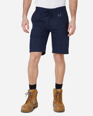 Picture of ELWD Workwear-EWD203-MENS ELASTIC UTILITY SHORT