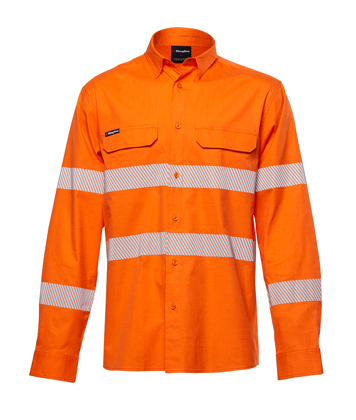 Picture of King Gee-K54031-Workcool Pro Hi Vis Reflective Shirt L/S