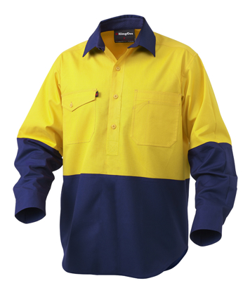 Picture of King Gee-K54876-Workcool 2 Spliced Closed Front Shirt L/S