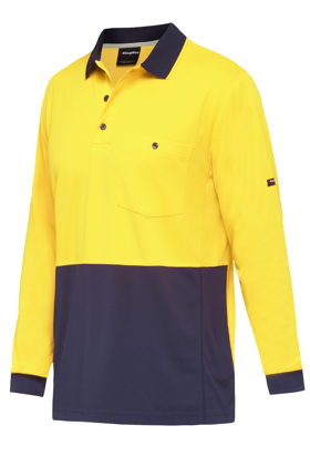 Picture of King Gee-K54235-Workcool Hyperfreeze Spliced Polo L/S