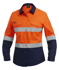 Picture of King Gee-K44544-Workcool 2 Women's Reflective Spliced Shirt L/S