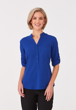 Picture of City Collection-2263-SO EZY 3/4 Sleeve Easy Care Blouse