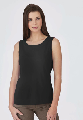 Picture of City Collection-2292-Smart Knit Short Sleeve Blouse