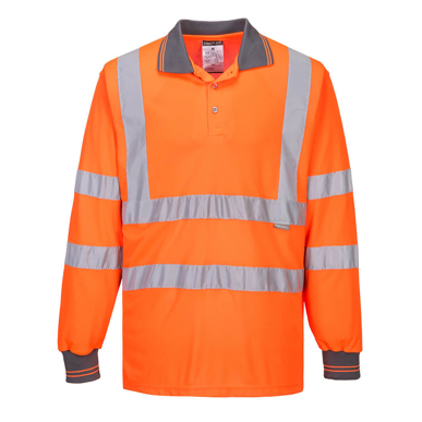 Picture of Prime Mover-S277-Hi-Vis Long Sleeved Polo