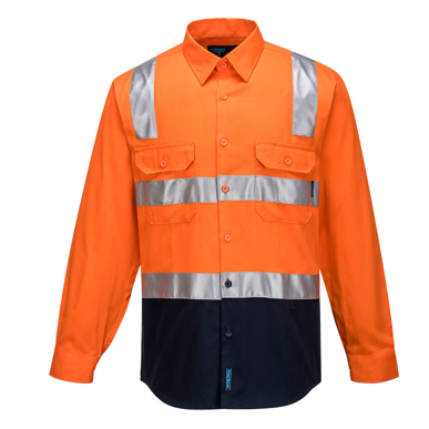 Picture of Prime Mover-MS101- Hi-Vis Two Tone Regular Weight Shirt with Tape Over Shoulder