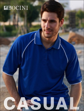 Picture of Bocini-CP0326-Unisex Adults Breezeway Polo