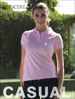 Picture of Bocini-CP0756-Ladies Pique Knit Fitted Cotton / Spandex Polo