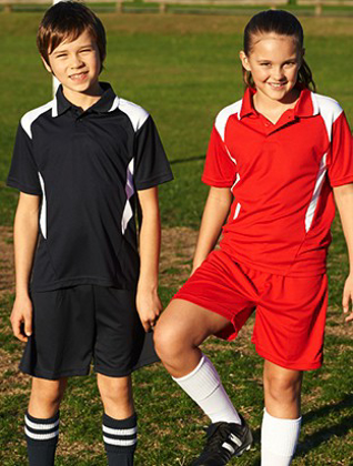 Picture of Bocini-CP1216-Kids Honey Comb Contrast Panel Polo