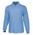 Picture of Bocini-CP1605-Kids Plain Colour Poly Face Cotton Backing L/S Polo