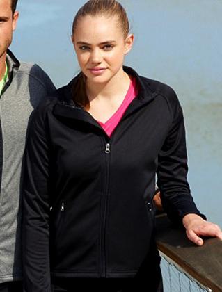 Picture of Bocini-CJ1454-Ladies Light Weight Fleece Zip Through Jacket