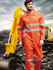 Picture of Bocini-WO0683-Unisex Adults Hi-Vis Cotton Drill Overall With X Pattern Reflective Tape