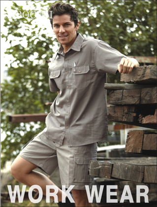 Picture of Bocini-WK615-Unisex Adults Cotton Drill Cargo Shorts