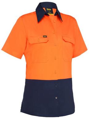 Picture of Bisley Workwear-BL1895-Women's Cool Lightweight Hi Vis Drill Shirt
