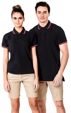 Picture of Identitee-P15(Identitee)-Ladies Premium Cotton Polo with Contrast Trim