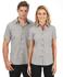 Picture of Identitee-W57(Identitee)-Ladies Short Sleeve Double Gingham Check Shirt