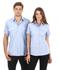 Picture of Identitee-W61(Identitee)-Ladies Short Sleeve Cross Hatch Casual Shirt