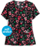 Picture of Cherokee Tooniforms Disney Peppermint Holiday Women's 2-Pocket V-Neck Print Scrub Top